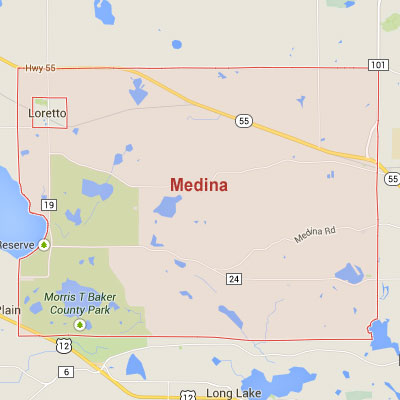 Formaneck Irrigation sprinkler irrigation system installation, maintenance and repair service area map near Medina, MN.